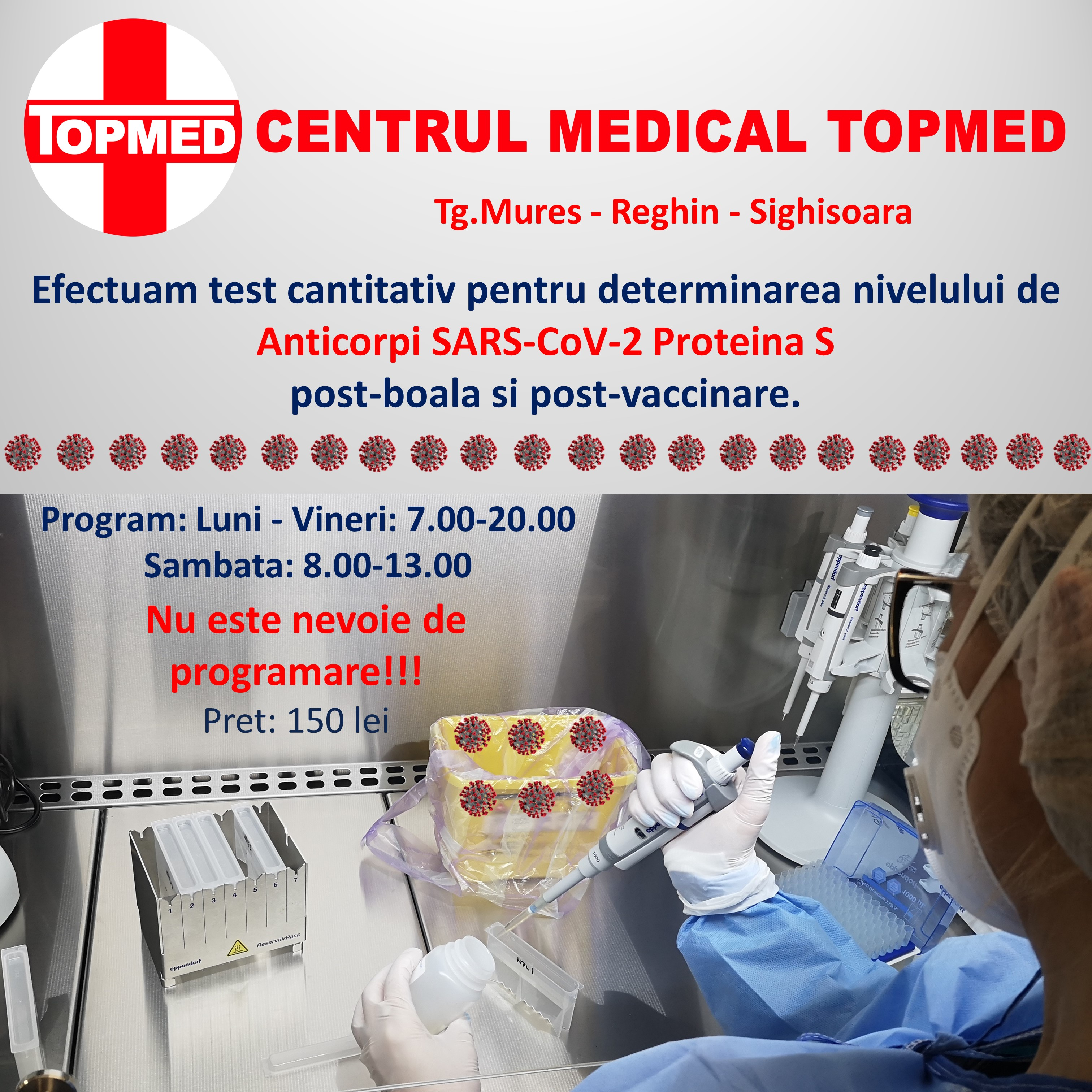 TEST Anticorpi SARS-Cov2 Proteina S Tg.Mures Reghin Sighisoara Topmed